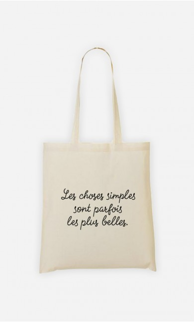 Tote Bag Les Choses Simples