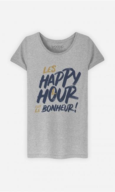 T-Shirt Happy Hour Bonheur