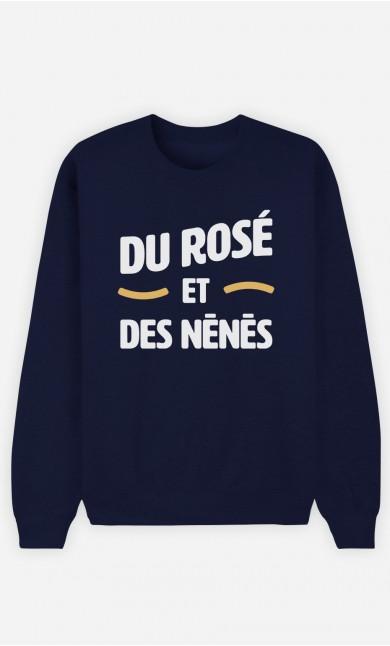 Sweat Bleu Du Rosé et des Nénés