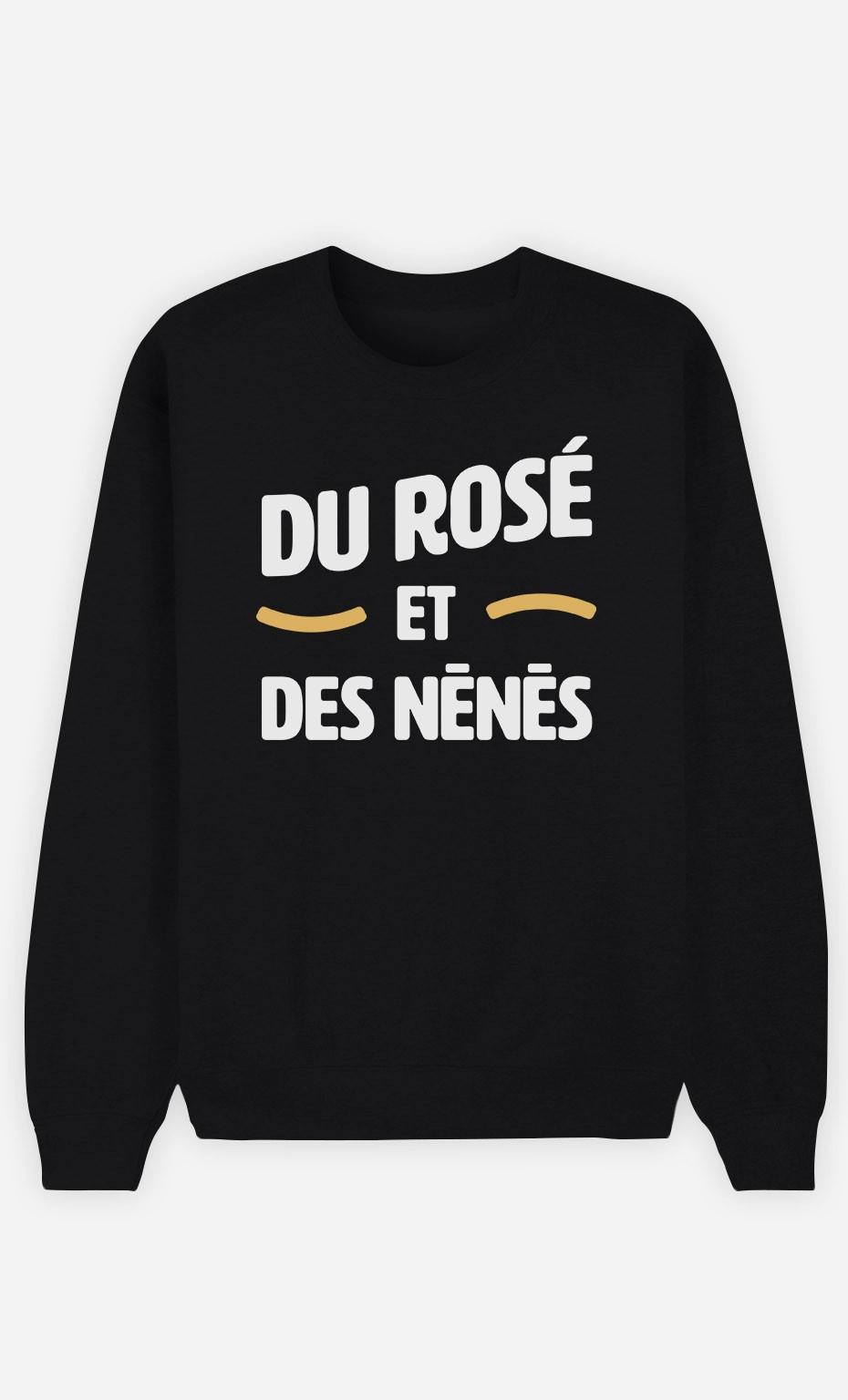 Sweat Noir Du Rosé et des Nénés
