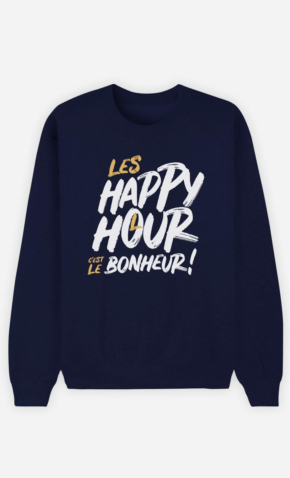 Sweat Bleu Happy Hour Bonheur