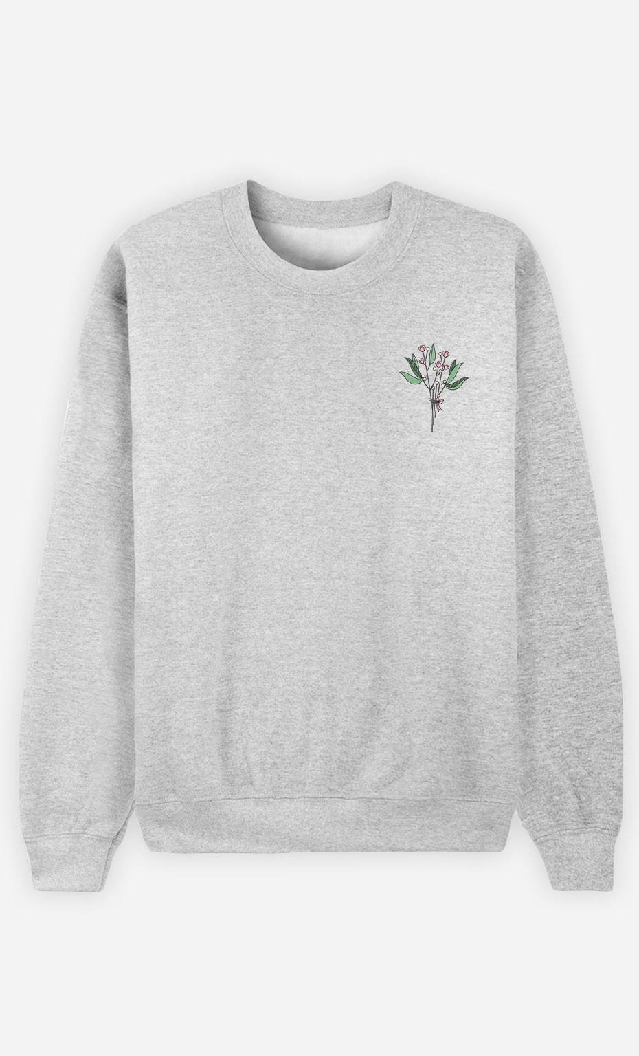 Sweat Bouquet - brodé