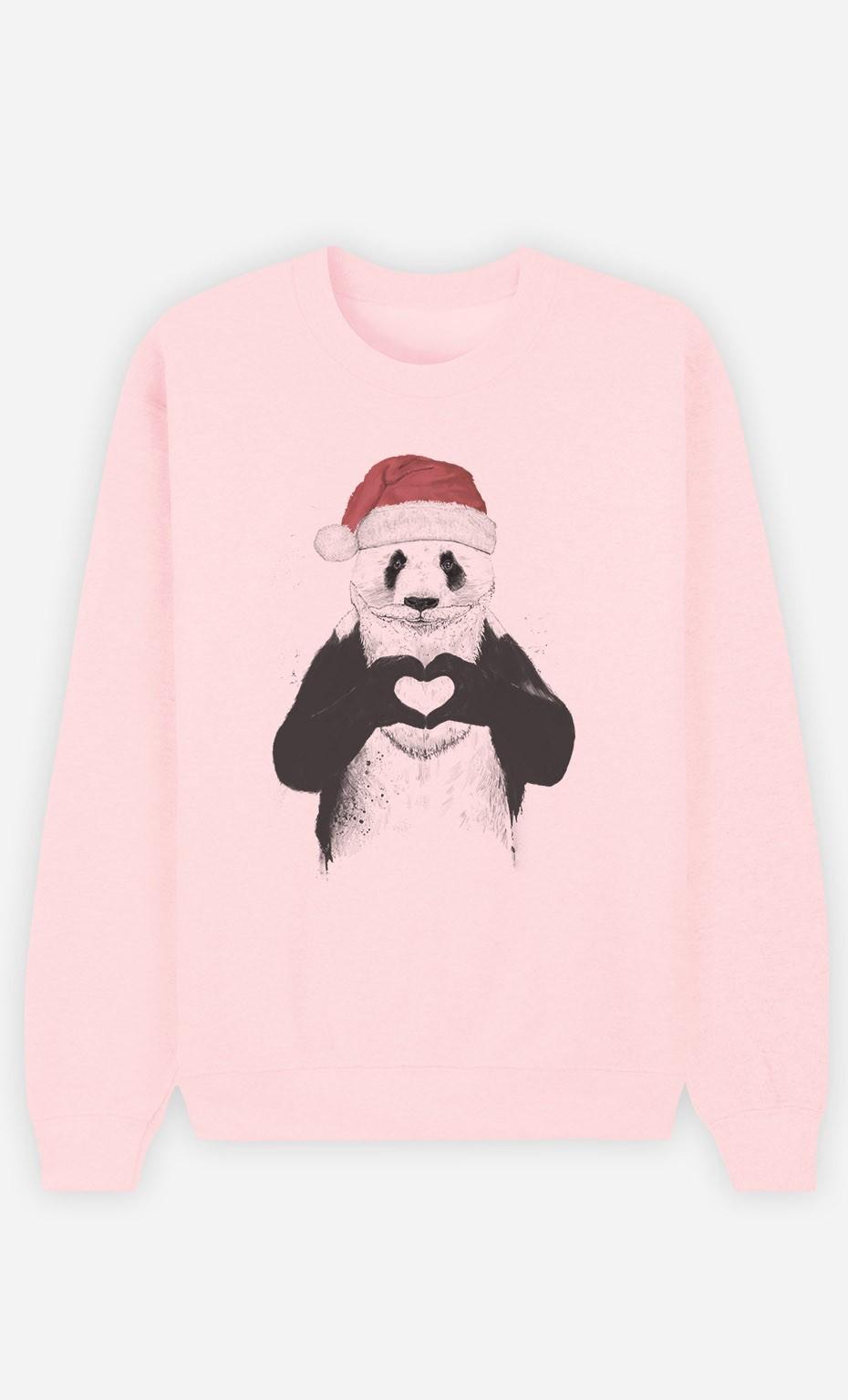 Sweat Rose Santa Panda
