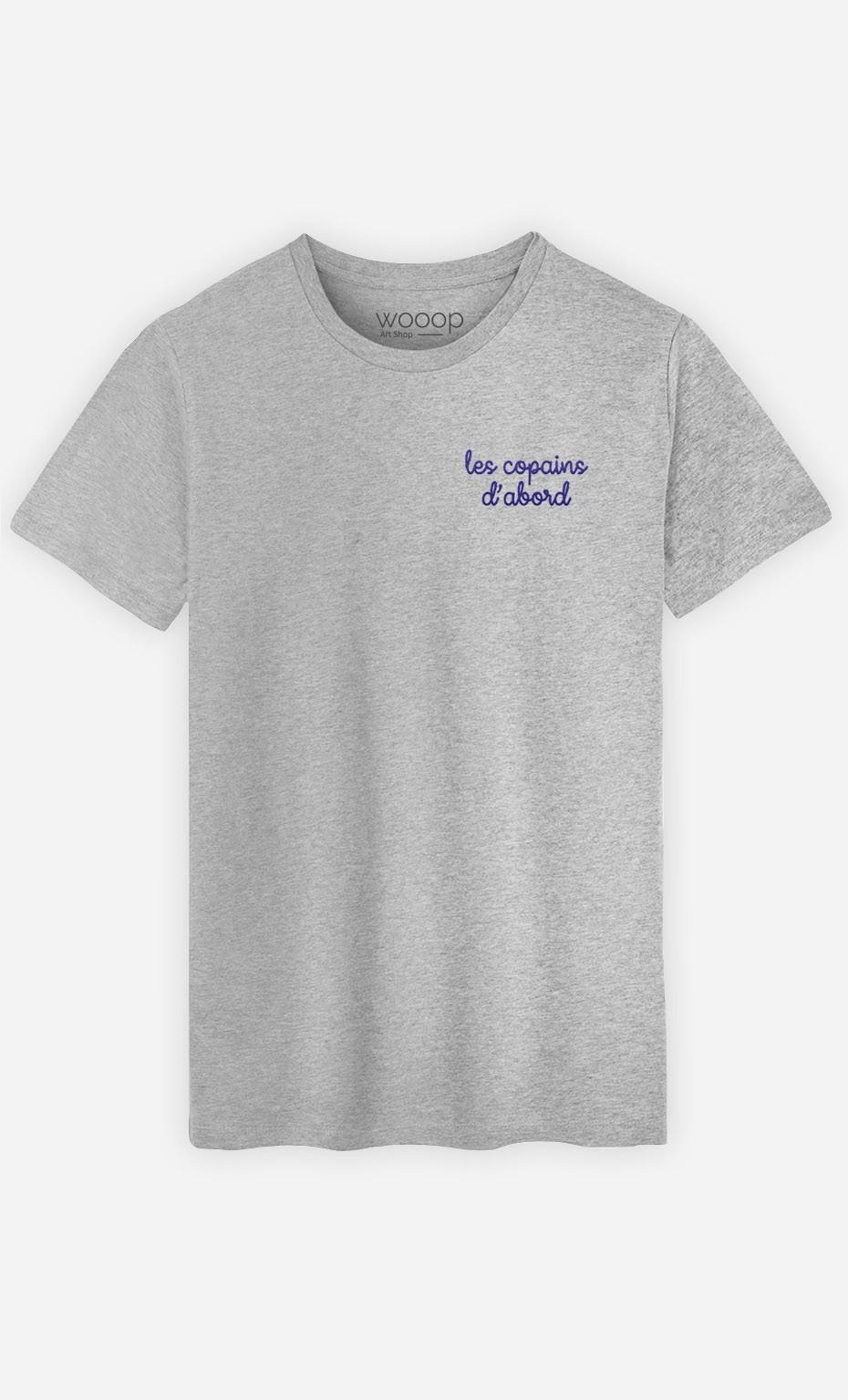 T-shirt Les copains d'abord - brodé