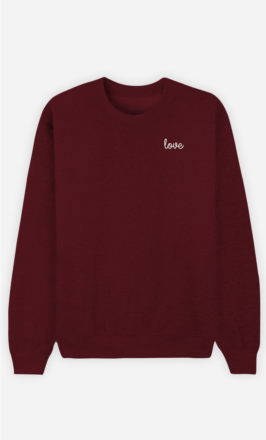 Sweat Bordeaux Love - brodé