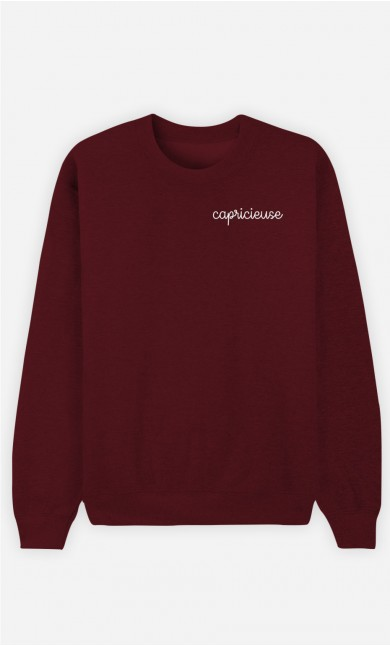 Sweat Bordeaux Capricieuse - brodé