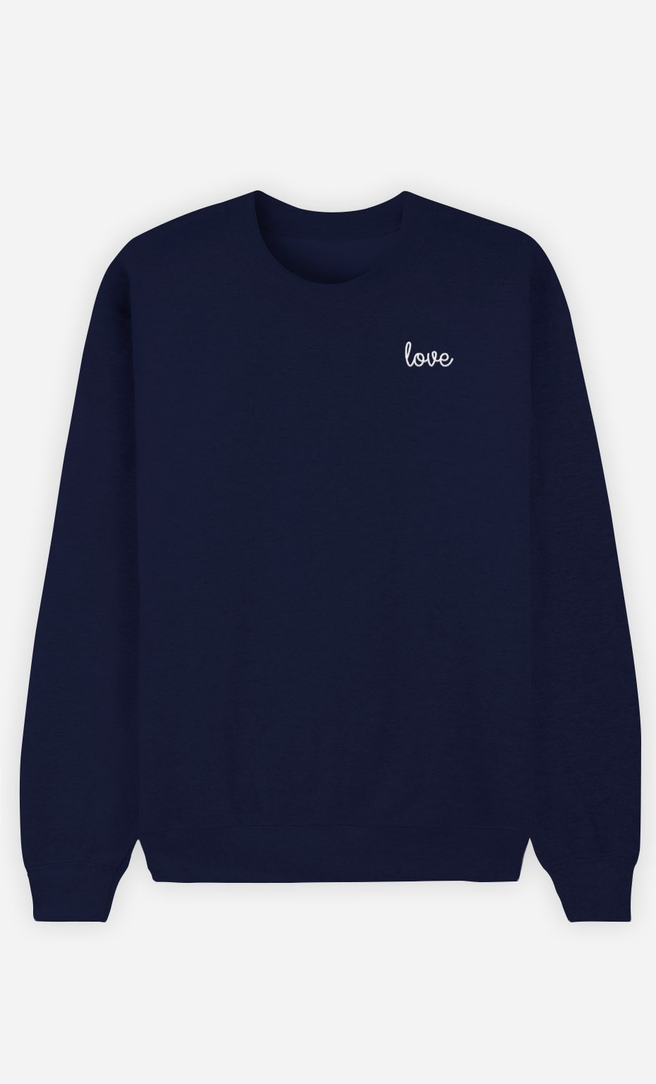 Sweat Bleu Love - brodé