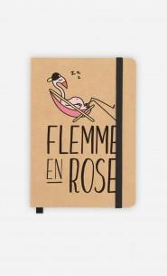 Carnet Flemme en Rose