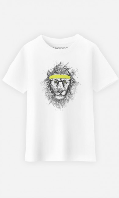 T-Shirt Enfant Hipster Lion