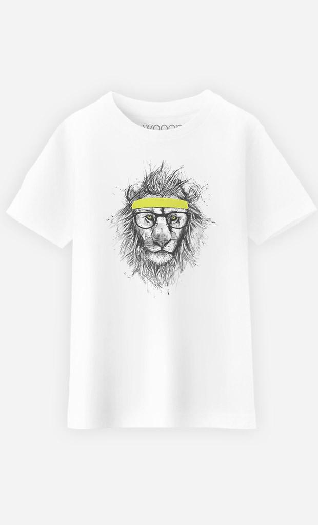 T-Shirt Enfant Hipster Lion