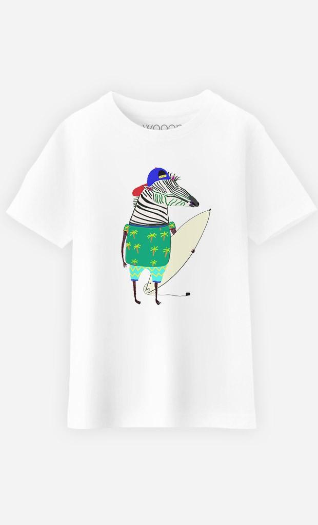 T-Shirt Enfant Zebra Surfer