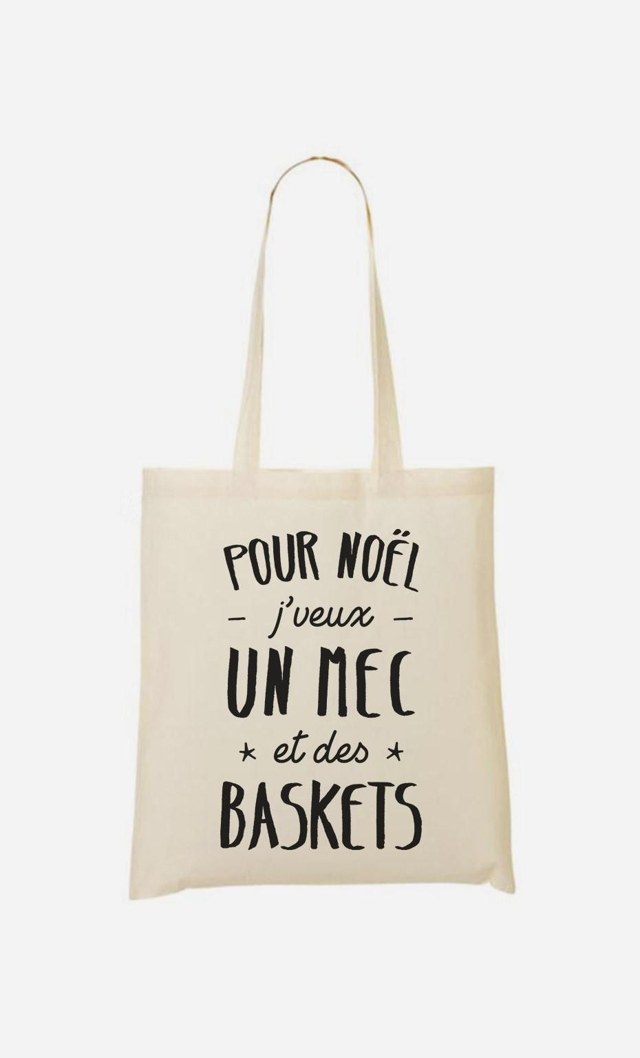 Tote Bag J'veux Un Mec Et Des Baskets