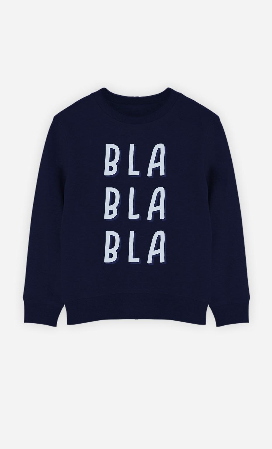 Sweat Blablabla Bleu