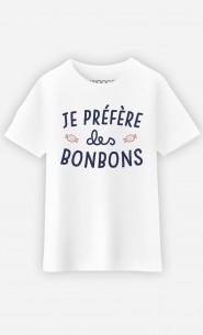 T-Shirt Je Préfère Des Bonbons