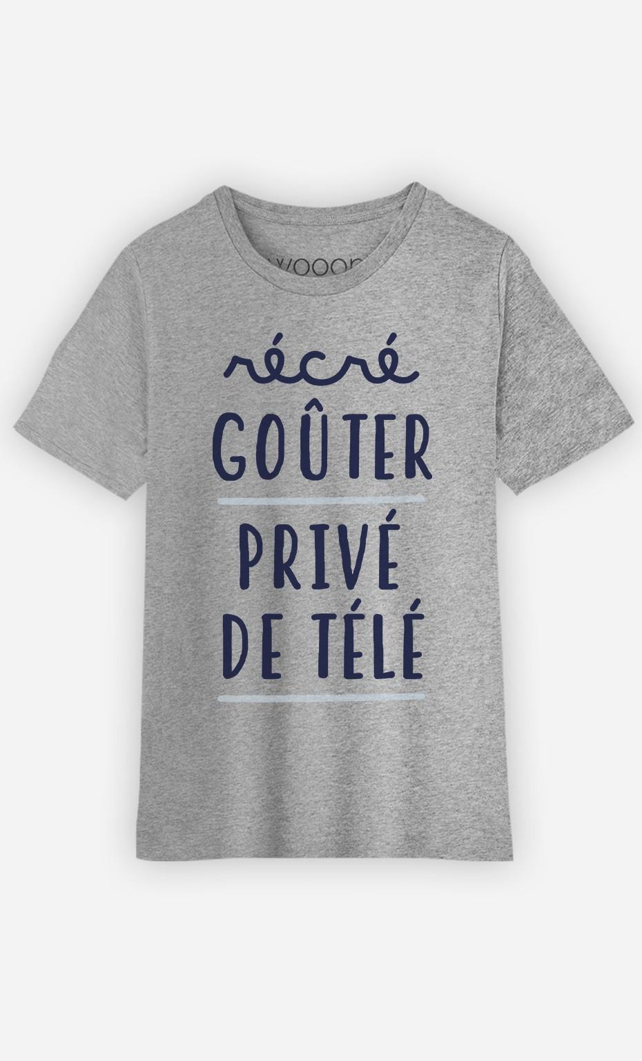 T-Shirt Récré Goûter Privé De Télé