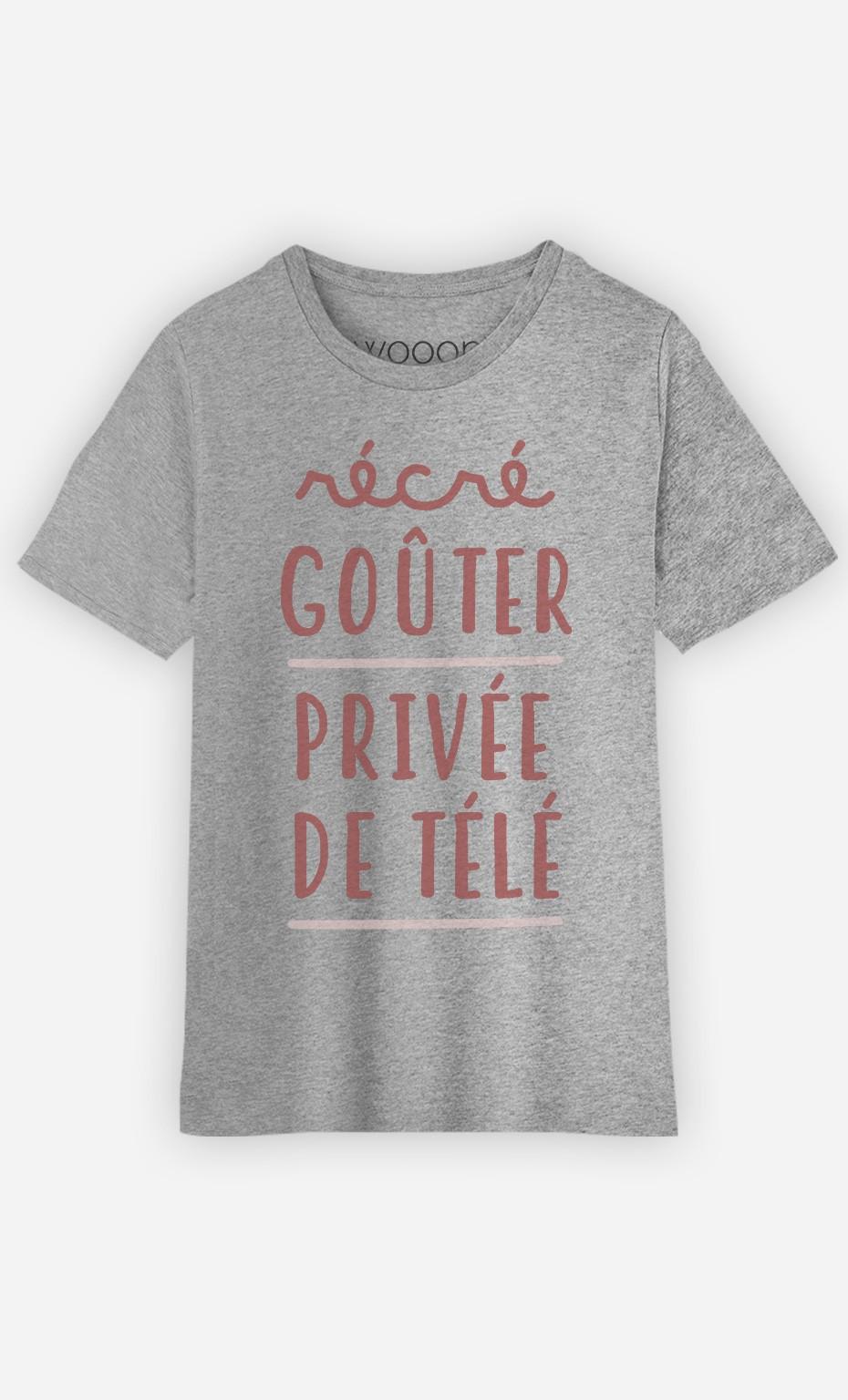 T-Shirt Récré Goûter Privée De Télé