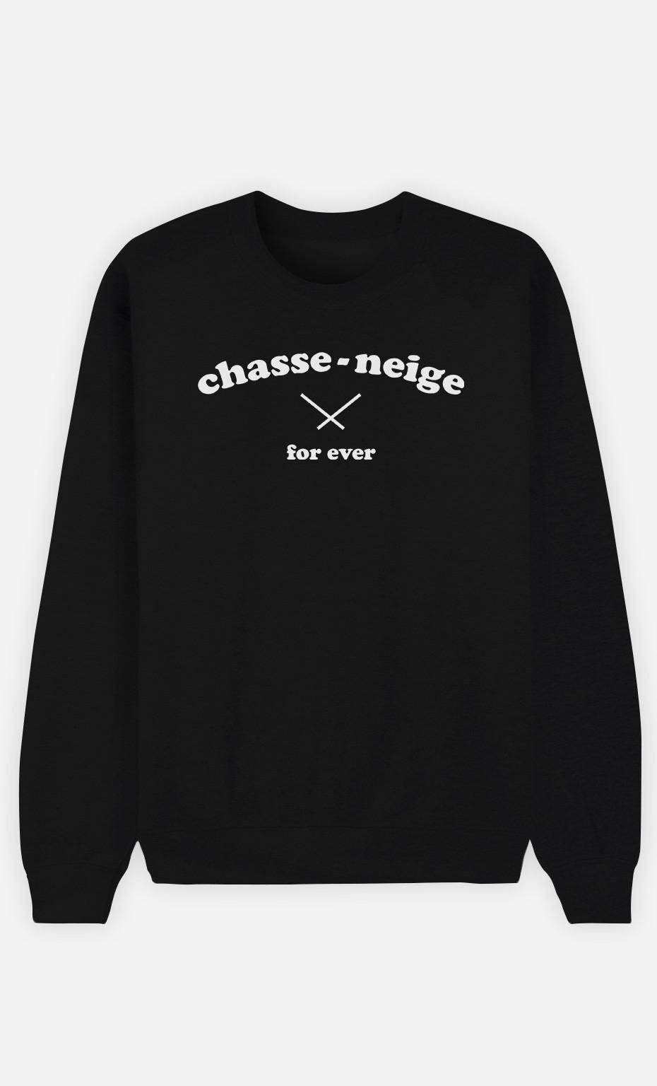 Sweat Noir Chasse-Neige