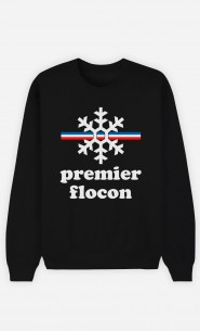 Sweat Noir Mon Premier Flocon