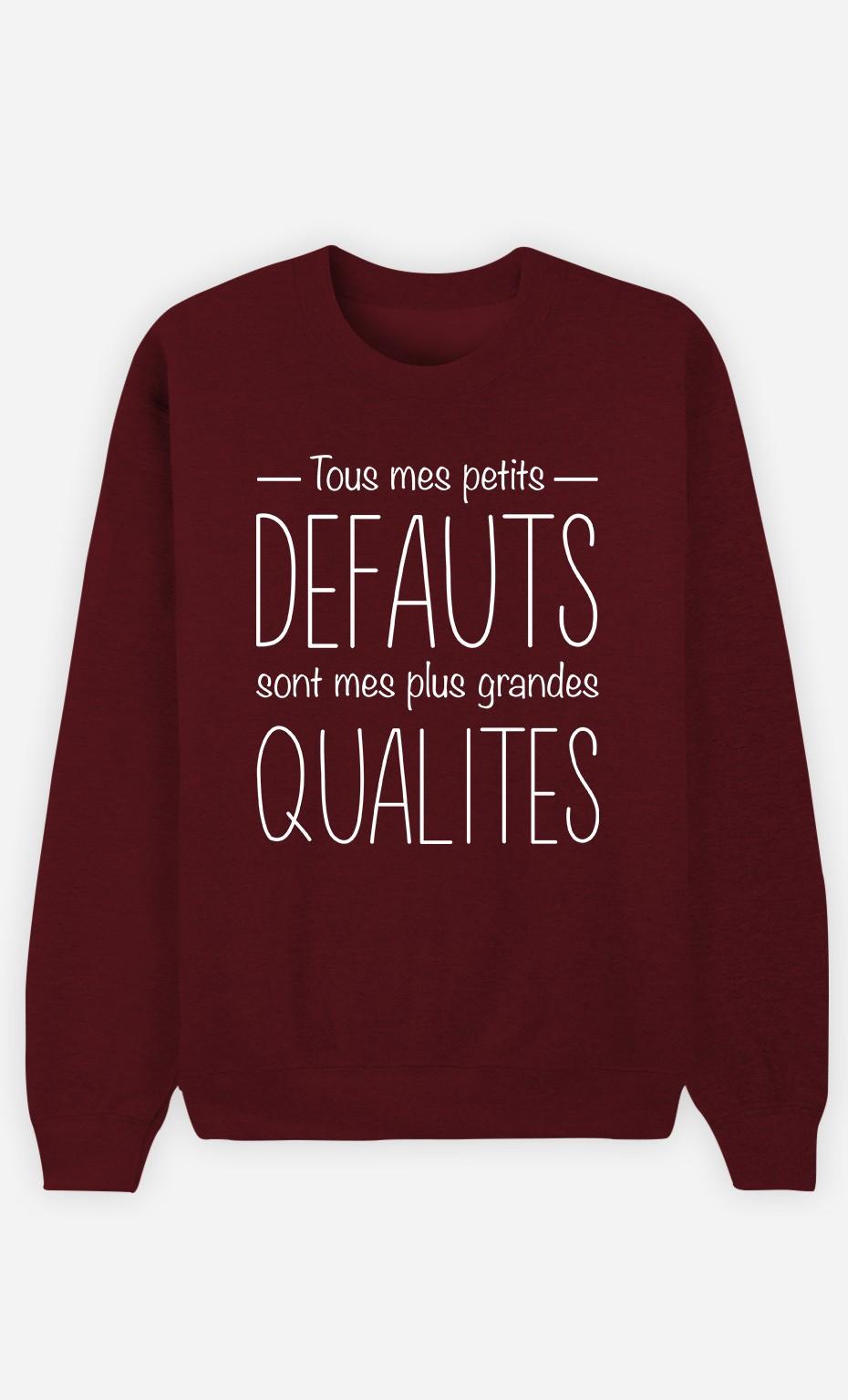 Sweat Bordeaux Tous Mes Petits Défauts