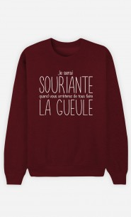 Sweat Bordeaux Je Serai Souriante