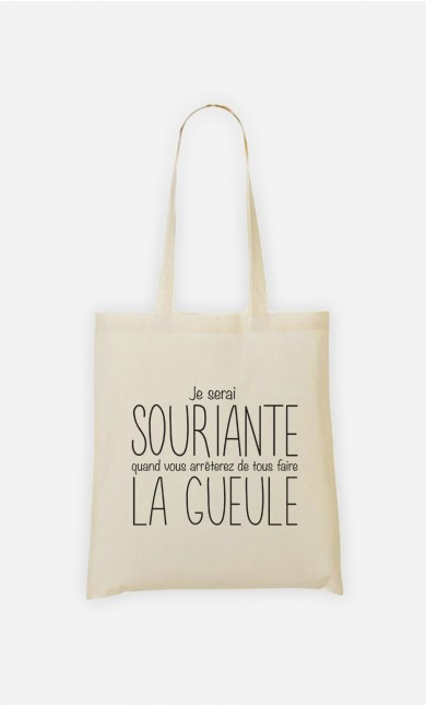 Tote Bag Je Serai Souriante