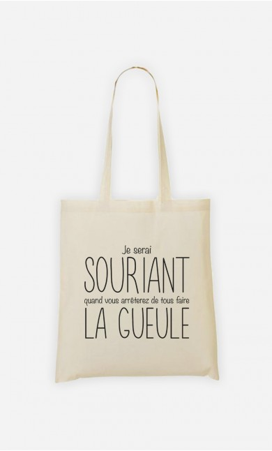 Tote Bag Je Serai Souriant