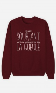 Sweat Bordeaux Je Serai Souriant