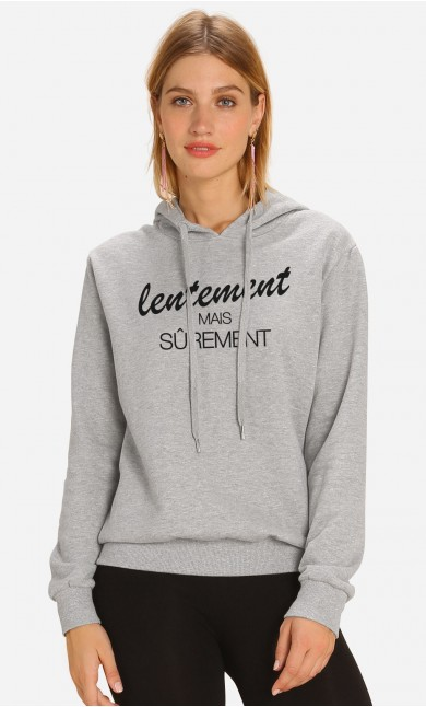 Sweat à Capuche Lentement Mais Sûrement