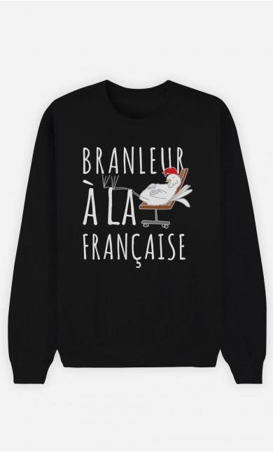 Sweat Noir Branleur A La Française