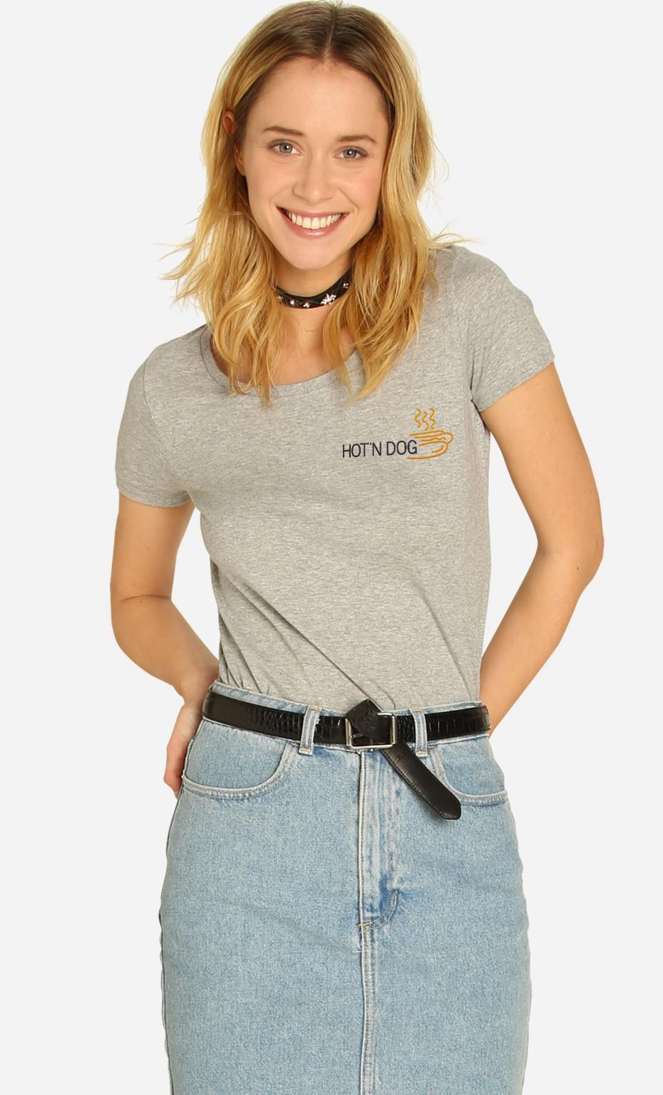 T-shirt Hot'N Dog - Brodé