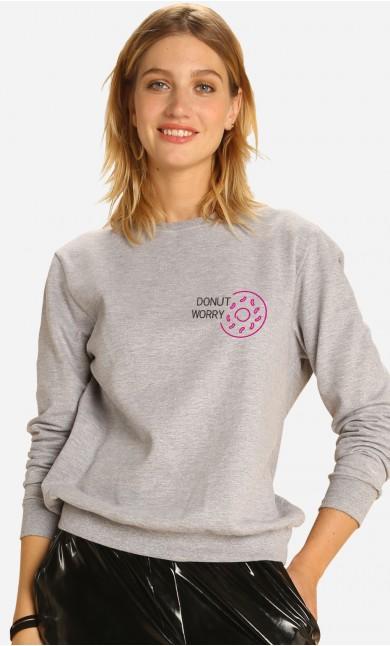 Sweatshirt Donut Worry - Brodé