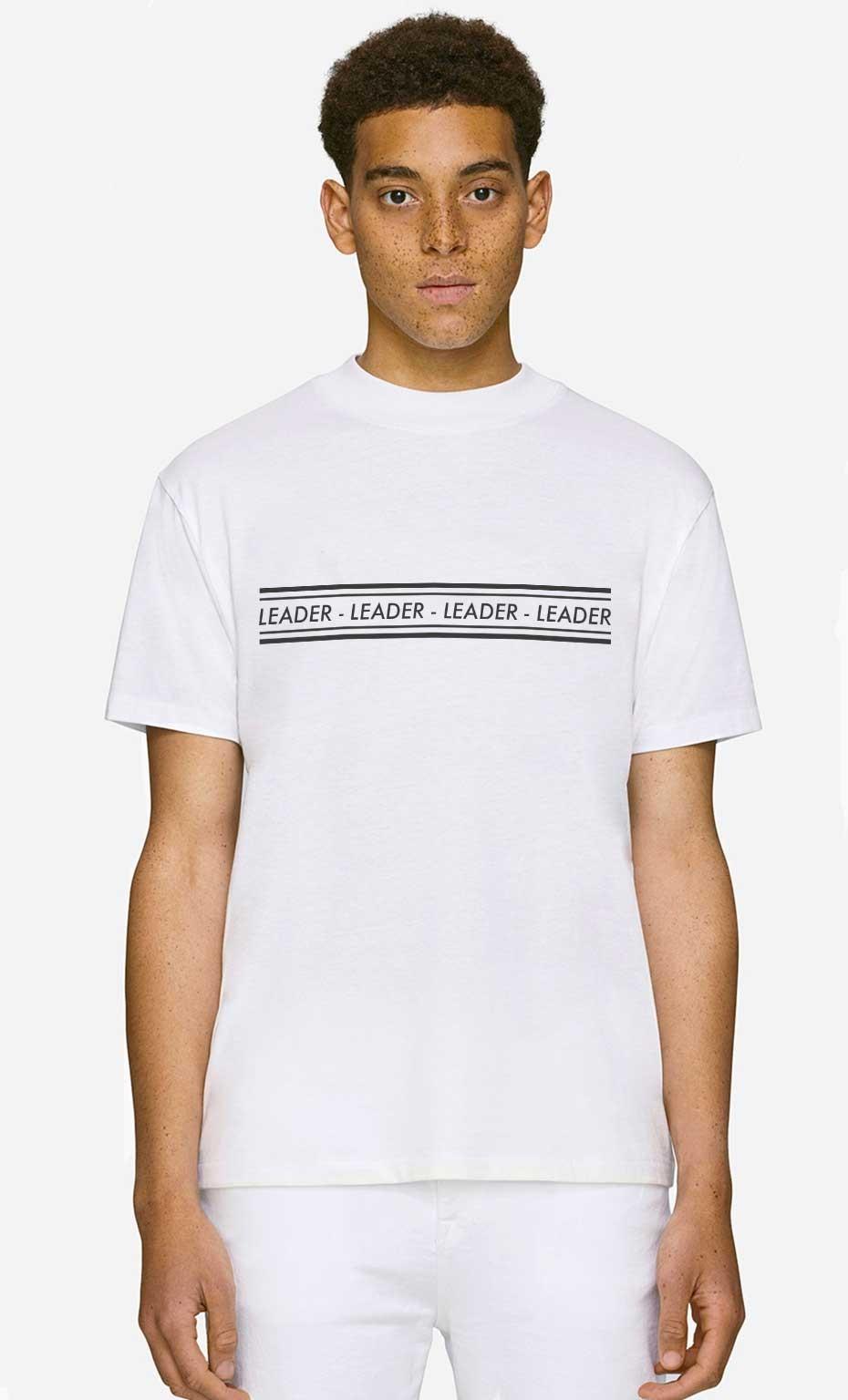 T-Shirt Col Haut Leader