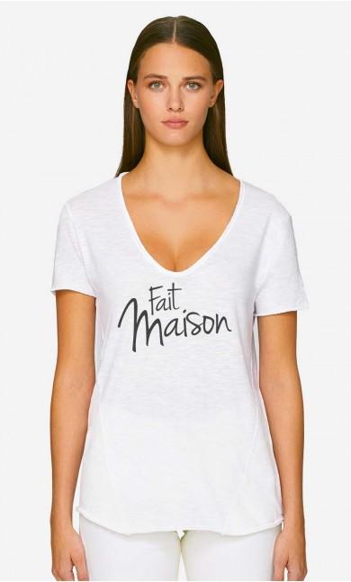 T-Shirt Décolleté Fait Maison