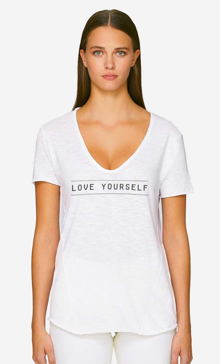 T-Shirt Décolleté Love Yourself