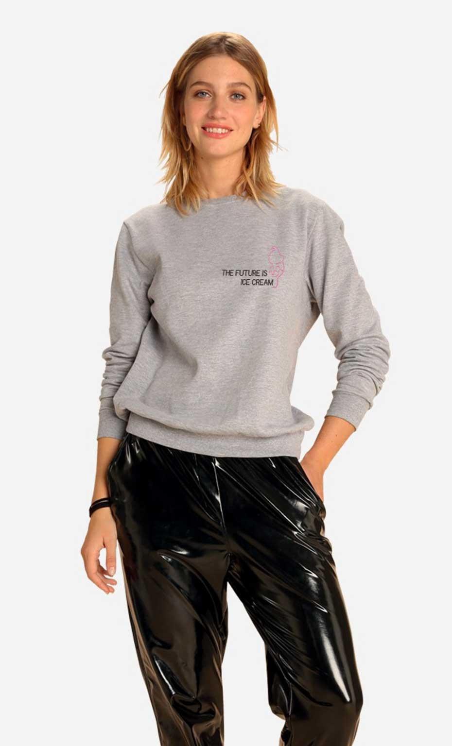 Sweatshirt The Future Is Ice Cream - Brodé