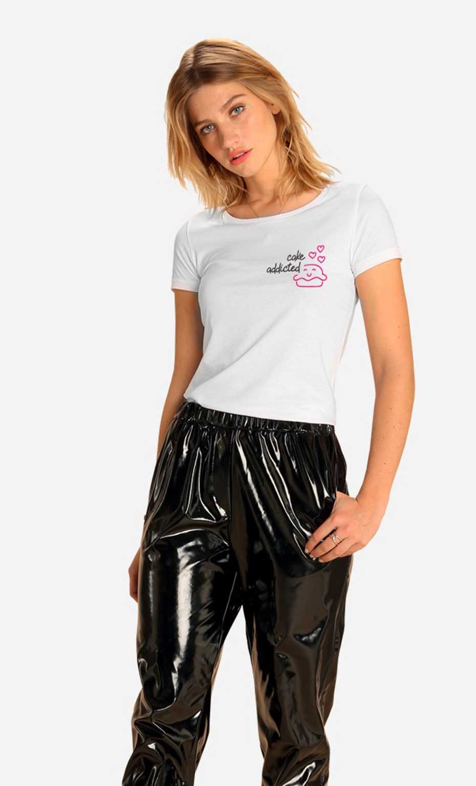 T-shirt Cake Addicted - Brodé