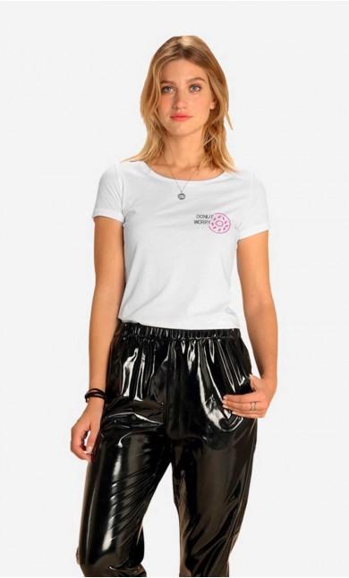 T-shirt Donut Worry - Brodé