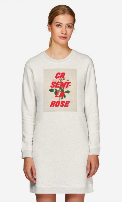 Robe-Sweat Ca Sent La Rose