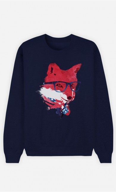 Sweat Bleu American Fox