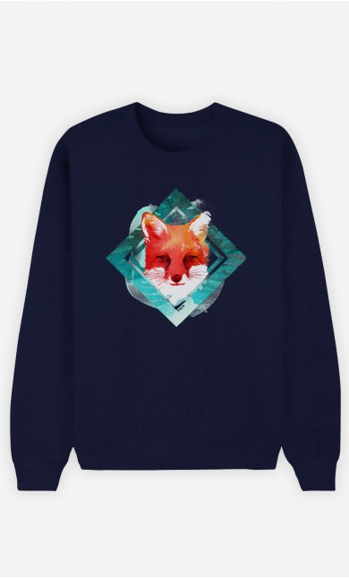 Sweat Bleu Green Fox
