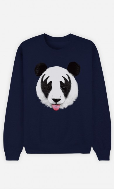 Sweat Bleu Panda Kiss