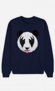 Sweat Bleu Panda Kiss