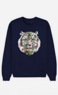 Sweat Bleu Tropical Tiger