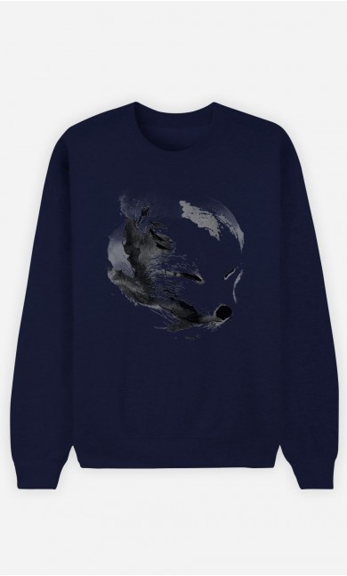 Sweat Bleu White Fox Alpha