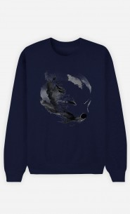 Sweat Bleu White Fox Alpha
