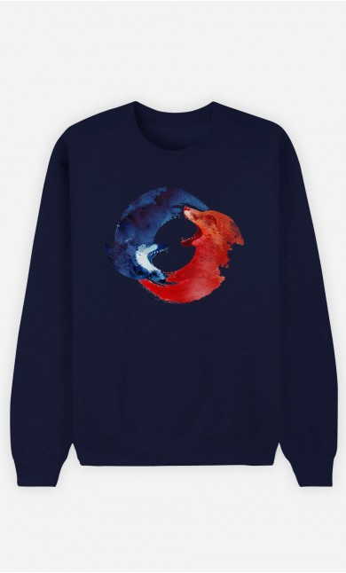 Sweat Bleu Ying & Yang Foxes