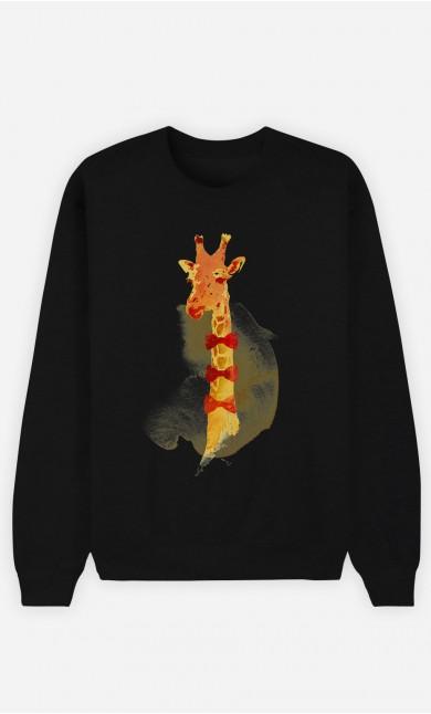 Sweat Noir Elegant Giraffe