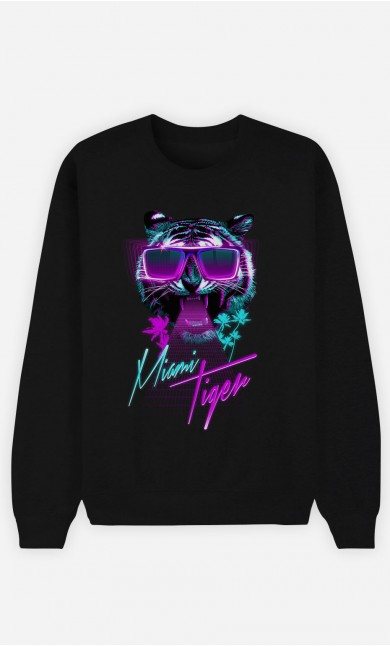 Sweat Noir Miami Tiger