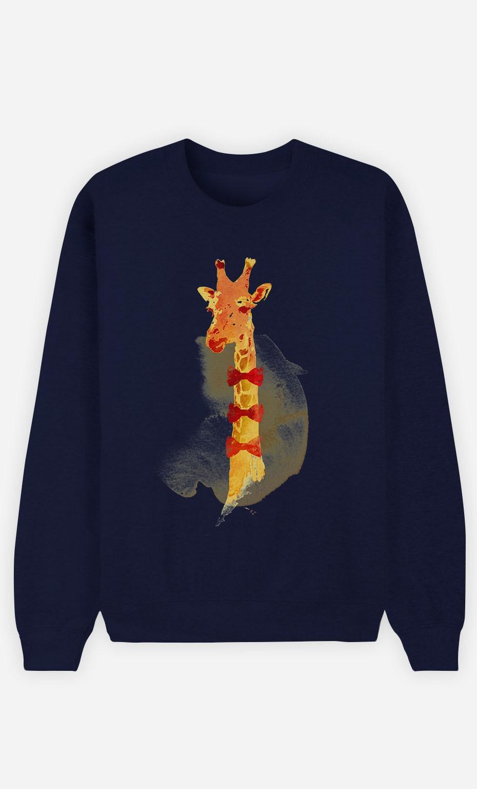 Sweat Bleu Elegant Giraffe