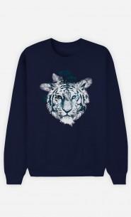 Sweat Bleu Frozen Tiger